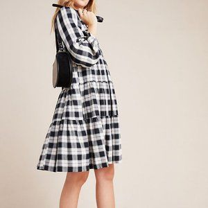 Maeve Anthropologie Amber Plaid Tiered Tunic NWT